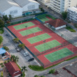 YALA, THAILAND - DECEMBER 5: Tennis Courts of White Elephant Par — Stock Photo