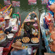 Stock Photo: SONGKHLA, THAILAND - AUGUST 11:Water Market female Merchants sel