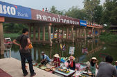 SONGKHLA, THAILAND - AUGUST 11:Sign of Klonghae water market on — Stock Photo