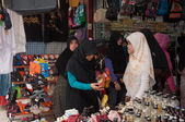 YALA, THAILAND - AUGUST 15:Muslim female buy products for gifts — Stock Photo