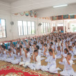 YALA, THAILAND - AUGUST 15:Youg Buddhism students do activity in — Stock Photo