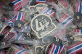 YALA, THAILAND - SEPTEMBER 30: Yala 418 mini half marathon medal — Stock Photo