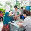 Stock Photo: YALA, THAILAND - OCTOBER 22: Blood pressure mesurement for Musli