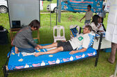 YALA, THAILAND - OCTOBER 22: Free Foot Massage for everybody in — Stock Photo