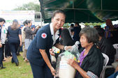 YALA, THAILAND - OCTOBER 22: Mrs.Anongsri Simsiri yala redcross — Stock Photo