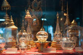 KRABI, THAILAND - OCTOBER 27: Holy Buddha Bone in glass box disp — Photo