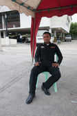 YALA, THAILAND - OCTOBER 31: Unidentified yala male policeman st — Stock Photo