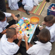 YALA-YAHA, THAILAND - NOVEMBER 8: Unidentified male kids paint c — Stock Photo