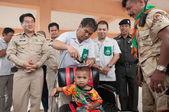 YALA-YAHA, THAILAND - NOVEMBER 8: Unidentified male kid get hair — Stock Photo