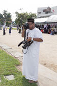 YALA, THAILAND - AUGUST 8 : Amad Ramansiriwong take photo for pr — Stock Photo