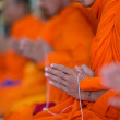 Stock Photo: Praying monk hand