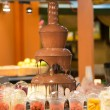 Stock Photo: Chocolate fountain