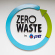 Zero waste by PTT logo — Stock Photo #31227383