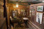 Vintage style Male restroom interior decoration — Stock Photo