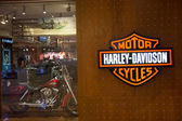 KUALA LUMPUR, MALAYSIA - SEP 27: HARLEY-DAVIDSON shop in Suria S — 图库照片