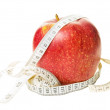 Stock Photo: Apple with centimeter