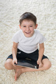 Smiling boy indoor — Stock Photo