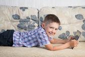 Smiling boy indoor — Stock Photo