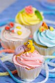 Many cupcakes — Stock Photo