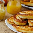 Stock Photo: Pancakes with honey