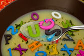 Alphabet soup — Stock Photo