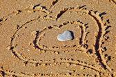 Hearts drawn — Stock Photo