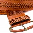 Stock Photo: Leather women belts