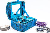 Blue jewel-box — Stockfoto
