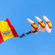 Stock Photo: Parachutist of the PAPEA