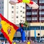 Parachutist of the PAPEA — Stock Photo