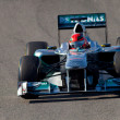 Team Mercedes F1, Michael Schumacher, 2011 — Foto de stock #15891933