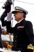 Official of the ship Juan Sebastian de Elcano — Stock Photo
