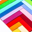Cardboards of colors - Stock Photo