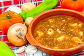 Soup of lentils — Stock Photo