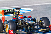 Lotus team renault f1, romain grosjean, 2012 — Foto Stock