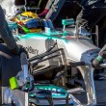 Постер, плакат: Mercedes AMG Petronas F1 Team Lewis Hamilton 2013
