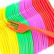 Stock Photo: Plastic cutlery