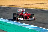 怎么法拉利 f1,费尔南多 · 阿隆索,2012年 — 图库照片