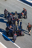 Loto del equipo renault f1, romain grosjean, 2012 — Foto de Stock