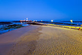Beach of La Caleta of Cadiz — Stock Photo