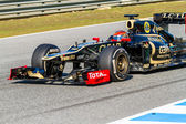 Team Lotus Renault F1, Romain Grosjean, 2012 — 图库照片