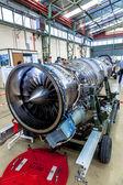 Turbine EJ200 of the aircraft Eurofighter  — Stock Photo