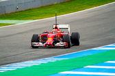 Team Scuderia Ferrari F1, Kimi Raikkonen, 2014 — Zdjęcie stockowe
