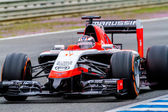 Team Marussia F1, Jules Bianchi, 2014 — Stock Photo
