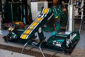 团队 catherham f1,雅诺-特鲁利 — 图库照片