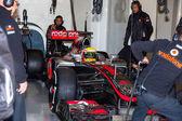 Team McLaren F1, Lewis Hamilton, 2012 — Stock Photo