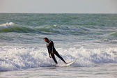 Surfer on 2nd Championship Impoxibol, 2011 — Stock Photo