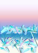 Crystals ice semiprecious stone — Stock Vector