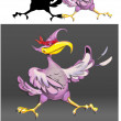 Stockvektor : Bird supermhero violet vector
