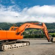 Excavator at construction site — Stock Photo #17837373